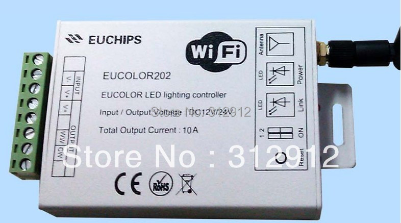 Eucolor202; 2 channel output led wifi controller,DC12-24V input;5A*2 channel m3 m4 5a m3 touch rf remote with m4 5a cv receiver led dimmer controller dc5v dc24v input 5a 4ch max 20a output