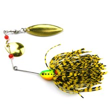 5Pcs 17.4g Spinnerbait Metal Fishing Lure Bass Crankbait Bait Tackle Crank Hook Vissen Harde Spinner Lokken Pike Bass Pesca