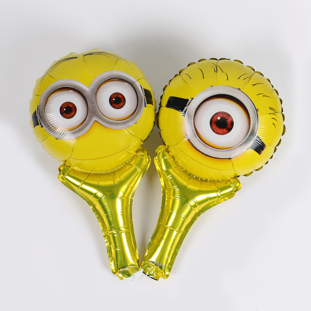 50 Teile Los Minion Hand Folienballons Cartoon Minion Aufblasbare