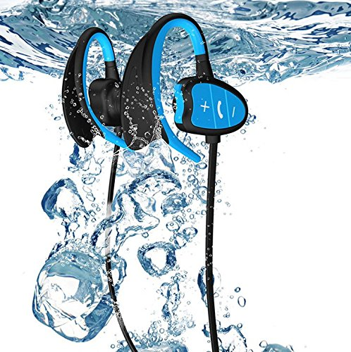 MS 16G memory Waterproof MP3 IPX8 Music Player Underwater Sports Bluetooth Headphone for Swiming/Cycling/Running/Hiking,CSR 8635