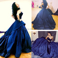 Rihanna Sweetheart Royal Blue Arabic Ball Gown Long Evening Prom Dress 2015 Concert Dresses Rihanna