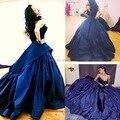 Rihanna querida azul Royal árabe vestido de baile longo Evening Prom Dress 2015 concerto vestidos Rihanna