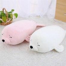 1pc 62cm Ultra soft Seals Cartoon Seals Stuffed White Pink Seals Plush Toy Doll Kawaii Birthday