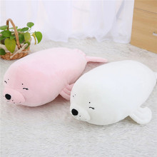 1pc 62cm Ultra soft Seals Cartoon Seals Stuffed White Pink Seals Plush Toy Doll Kawaii Birthday Gift for Kids Children