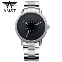 AMST Mens Watches Top Brand Luxury Famous watch Men Watches Male Clock Quartz-watch black dial Wrist Watches relojes hombre 2017(China)