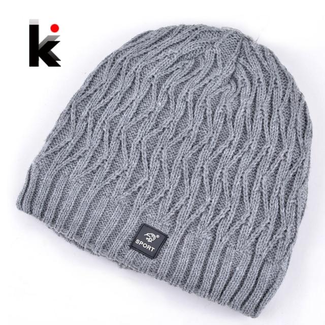 fe07a4d41d3 2018 bonnet winter mens skullies designer hat mask knitted wool hat men cap  beanies plus thick velvet hats for men