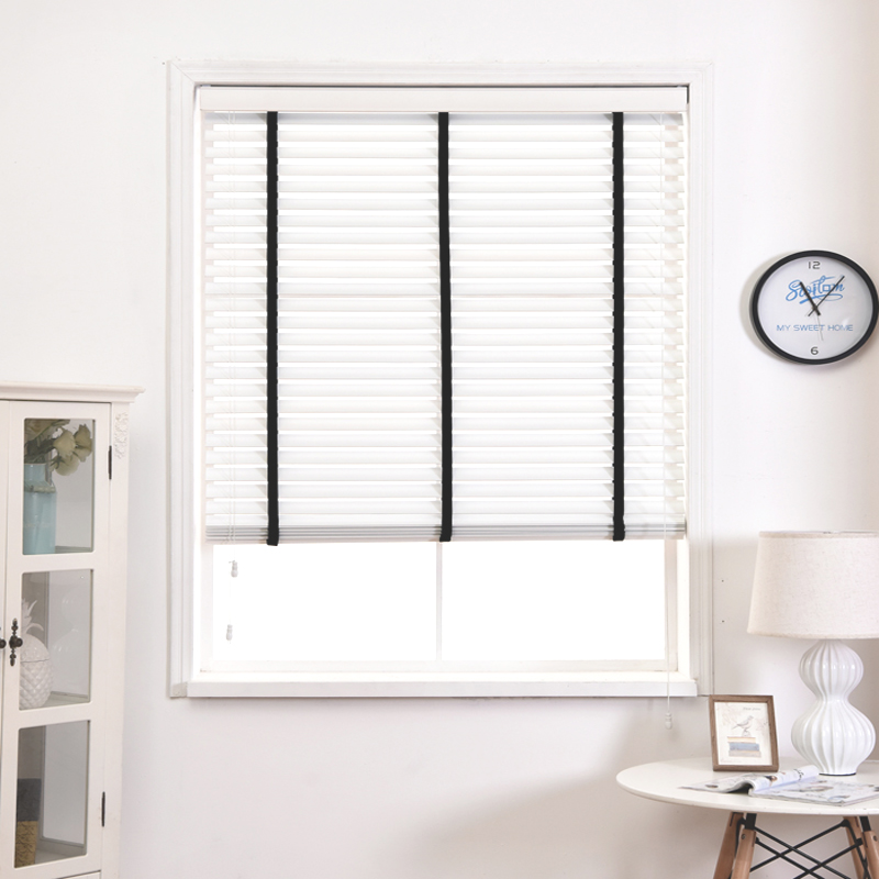 Most Por In Sigapore Free Shipping White Wooden Blinds With Black Tape
