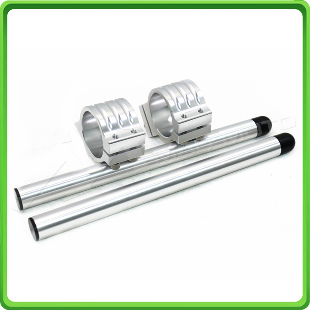 50MM Silver Motorcycle Fork Clip-ons and handlebar tubes For APRILIA RSV 1000  Factory 2006 2007 2008 2009 Clip-on handle bars (10)