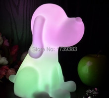 Free shipping Rainbow Colorful Animal Dog LED night light lamp for kids, Chien Night Lamp for Children Christmas Gift wholesales