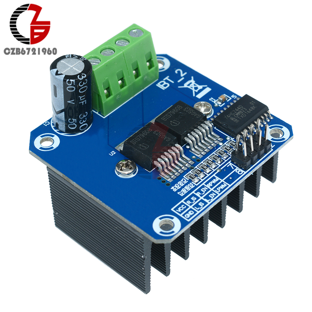 Double BTS7960B DC 43A Stepper Motor Driver H-Bridge PWM for Arduino Smart Car цена