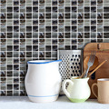 Funlife Creative Nordic style black and grey mosaic decoration Wall sticker Home authentic oil-proof waterproof tile sticker