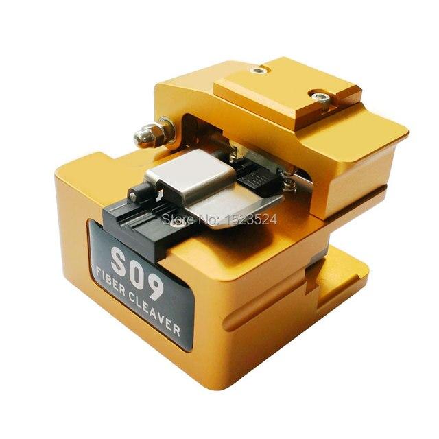 S09 ไฟเบอร์ Hot-melt Optical มีดตัดไฟเบอร์ออปติก Cleaver ความแม่นยำสูง Cleaver เครื่องตัดไฟเบอร์ฝุ่น bin