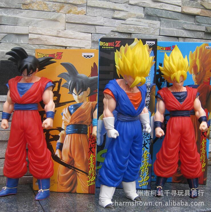 37cm Dragon Ball Z Super Saiyan 4 Son Goku Action Figure PVC Collection figures toys for christmas gift without Retail box new hot pvc action figure zero ex dragon ball gt super saiyan 4 son goku model doll decoration collection figurine toys for gift