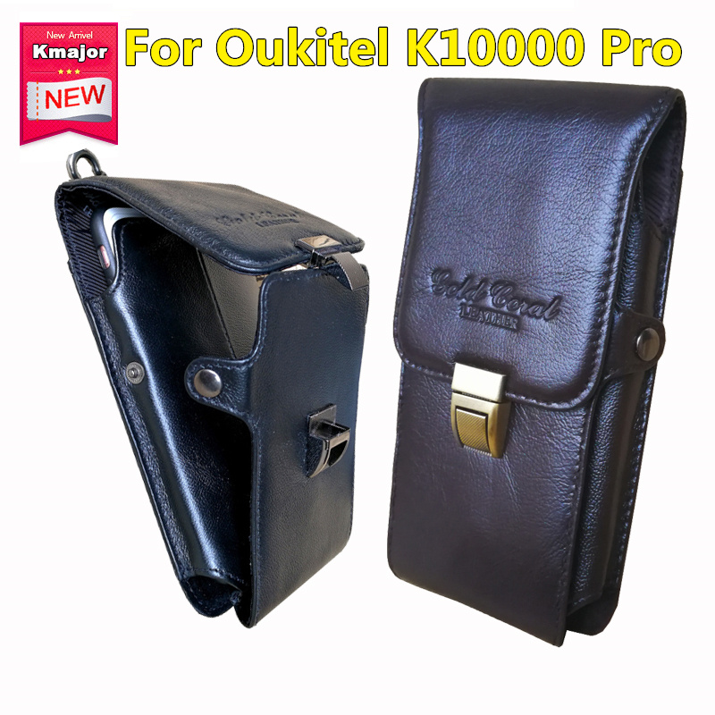 Original Genuine Leather Carry Belt Clip Pouch Waist Purse Case Cover For Oukitel K10000 Pro Mobile