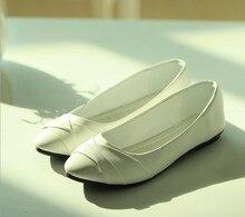 2017 NEW Fashion Elgent Women shoes for Ladies flats & White, Black SHOES SIZE 35-40