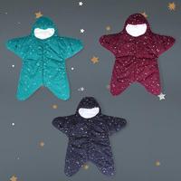 Winter Warm Baby Sleeping Bag Cotton Windproof Cartoon Starfish Baby Sleeping Bag Hug Newborn Baby Cotton Legs Sleeping Bag