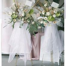 Золото 110 см высокие стенды рамка для цветов и стойка для цветов для свадебных украшений
