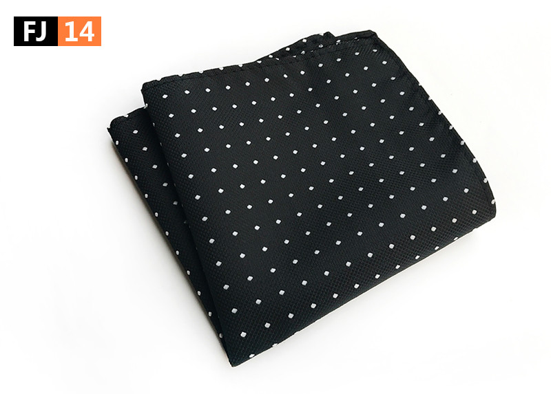 25x25cm Big Size Men Pocket Square High Quality Woven Hanky With Fashion Dots