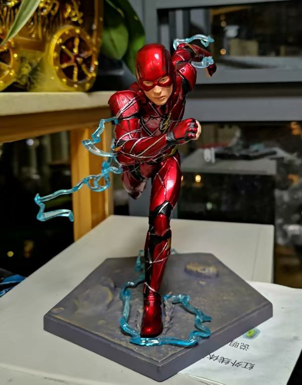 Movie Justice League The Flash Iron Studios Cartoon Toy Action Figure Model Doll Gift cartoon character doll model desk ornament gift toy