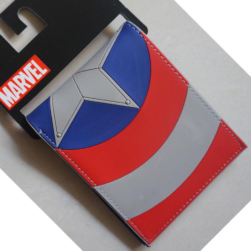 2018 Marvel Comics Captain America Logo wallets Purse multicolor Plastic Leather W058