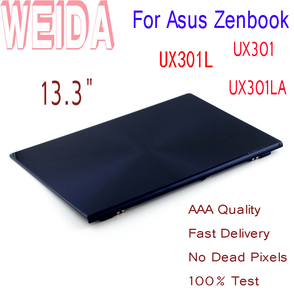 WEIDA LCD Replacment 13.3 For Asus Zenbook UX301 UX301LA UX301L LCD Display Touch Screen 2560*1440 A B Case+Frame Assembly