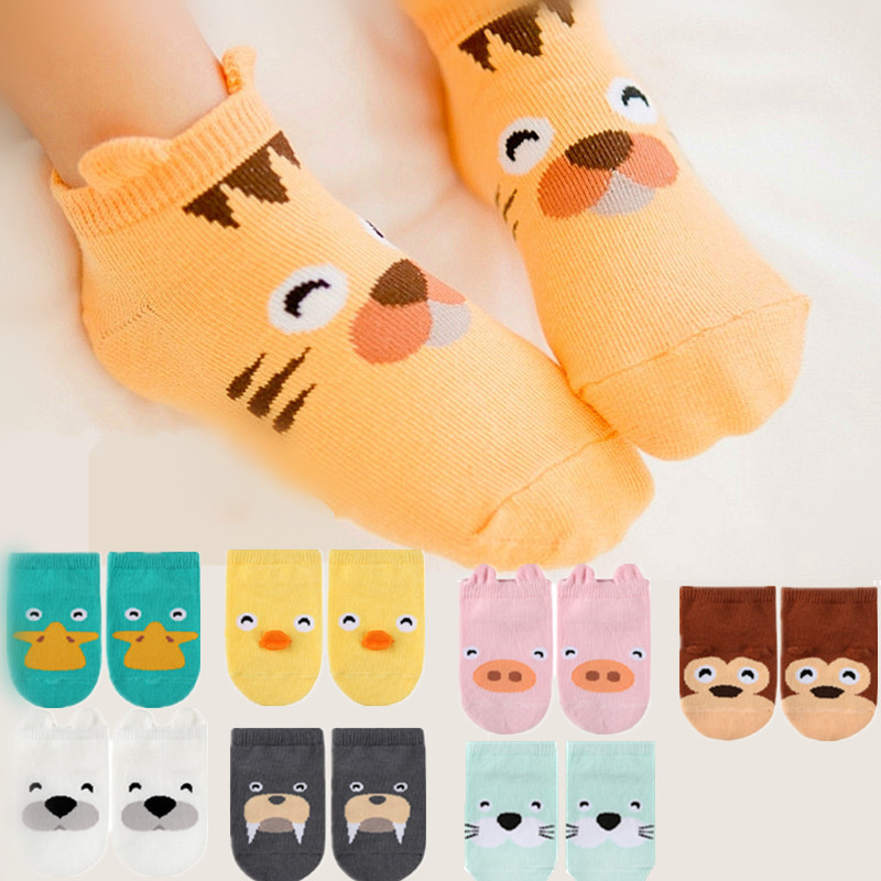Joyo Roy 1 Pairs Of ChildrenS Socks Spring And Summer New Baby Cartoon Animal Cotton Socks Baby Anti-Skid Floor Socks FF215R