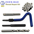 M3 *0.5 , thread repair recoil insert kit ,  with 12pcs helical Screw Insert , ST Tap , Install Handle , Break Tool , Drill