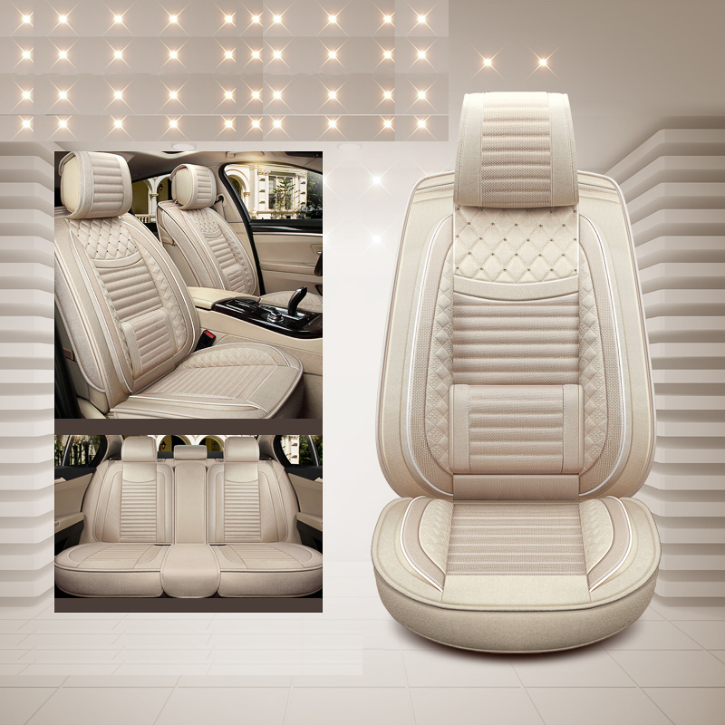 Luxury special flax front back car seat covers For Mazda 3 6 CX 5 CX7 323