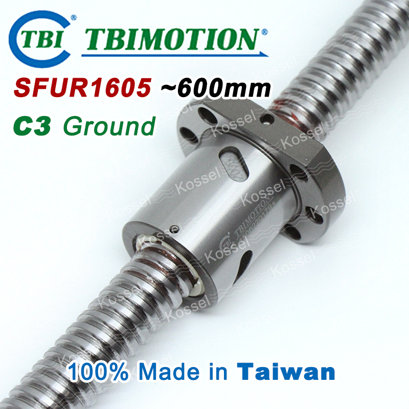 Custom TBI 1605 C3 600mm ballscrew with SFU1605 ball nut + BK12 BF12 set end machined for high precision CNC kit SFU горелка tbi 240 3 м esg