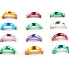 Кольца женские алюминиевые разных цветов с узором 100 шт