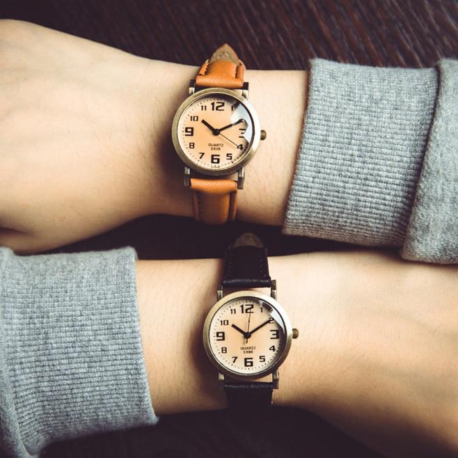 2017 New Brand Fashion Women Vintage Watch Ladies Casual Clock Leather Strap Quartz Watches Analog Wristwatch Relogio Feminino new fashion leisure square ladies watch casual analog quartz watches silver dress antique wristwatch clock relogio feminino