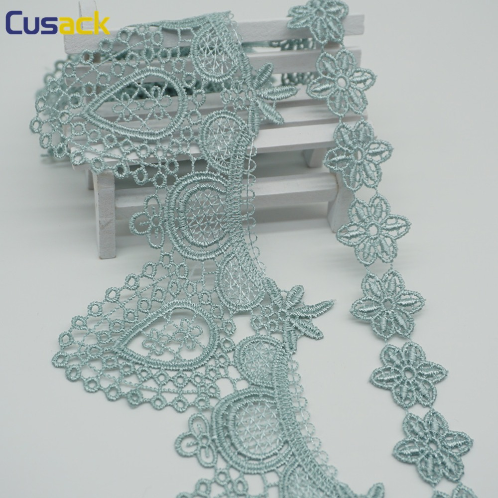 How Many Yards Of Fabric For Curtains Us 2 15 28 Off 2 Yards Turquoise Lace Trims For Curtain Sofa Costumes Trimmings Dress Ribbon Flower Applique Sewing Lace Fabric 9 5 Cm 2 5 Cm In