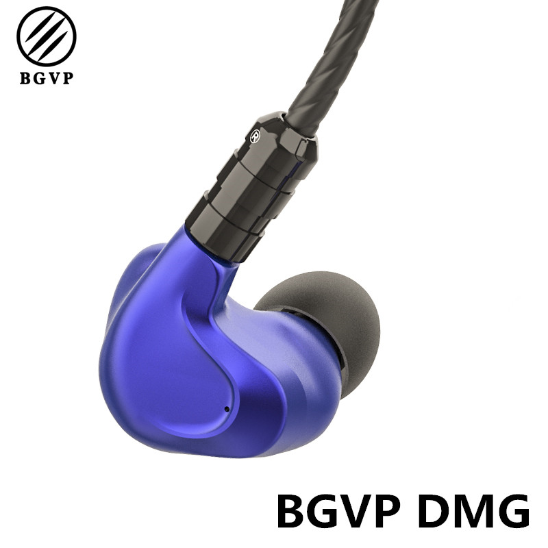 BGVP DMG 2DD+4BA Hybrid Earphone In Ear HiFi 5N OCC Detachable MMCX Cable DJ Monitor CNC Metal Earphone with 3 Tune Nozzles 800 wires soft silver occ alloy teflo aft earphone cable for ultimate ears ue tf10 sf3 sf5 5eb 5pro triplefi 15vm ln005407