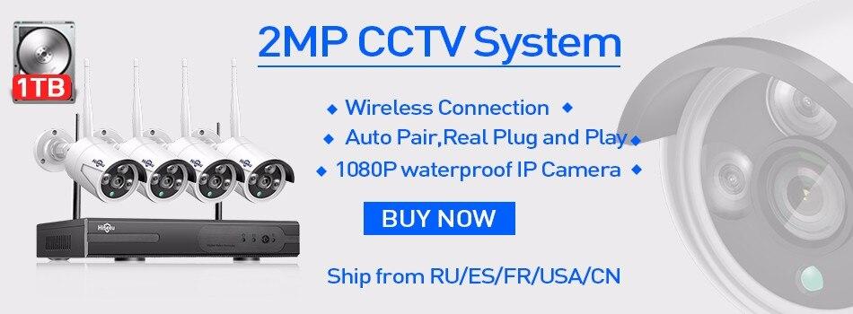Hiseeu 8CH POE NVR Kit HD 1080P CCTV Camera System 2MP Outdoor Waterproof IP Camera POE Home Security Video Surveillance Set