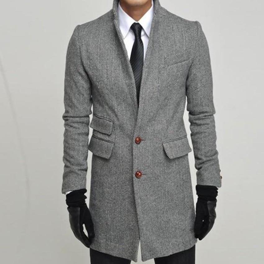 Custom Made To Measure Winter Jacket Man, Tailor Made Tweed Herringbone Topcoat, Manteau Homme, Bespoke Winter Coat Men 2015