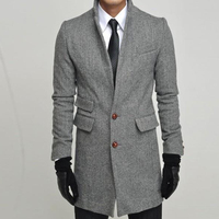 Custom Made To Measure Winter Jacket Man, Tailor Made Tweed Herringbone Topcoat, Manteau Homme, Bespoke Winter Coat Men 2015