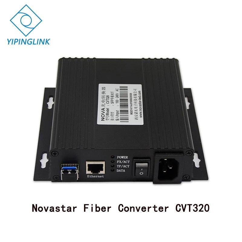 Nova estrela conversor de fibra cvt320 cor cheia display led led parede longa distância sinal transmitir nova conversor