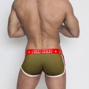 Image 5 - כך מגניב ורוד גיבורי גבוהה איכות כותנה תחתוני גברים בוקסר אופנה זכר תחתונים סקסי גברים תחתוני 4pcs