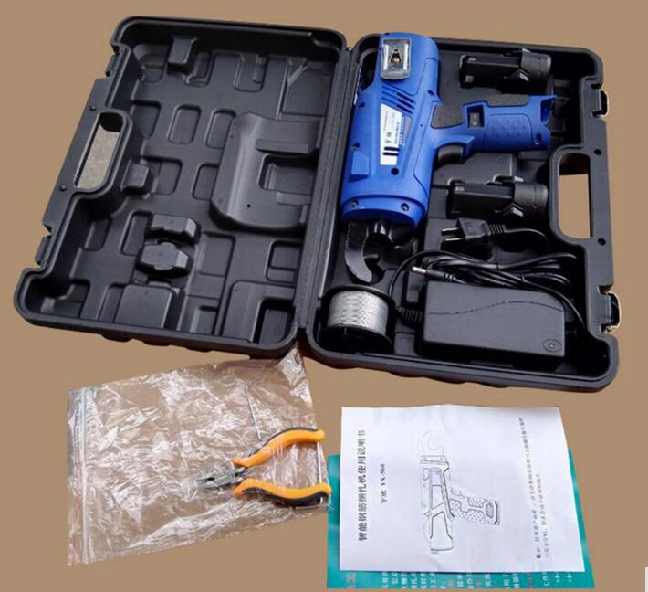 Tools : Automatic Rebar Tying Machine 8-34mm Electric Charging Strapping Machine Reinforcing Steel Packing Tool