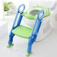 Baby Toilet Seat Folding Children Potty Chair Trainer Baby Potty Trainer Seat Chair Step with Adjustable Ladder infant Potty