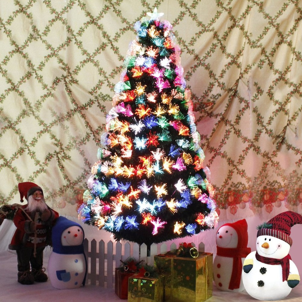 1821m fibre optic christmas tree xmas tree with colourful led scattered light artificial tree christmas decorations for home blog store