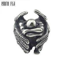 Cuentas de metal plateadas masculinas de Ángel 925 para pulseras de encanto europeas fabricación de joyas DIY hallazgos de joyas abalorios hechos a mano