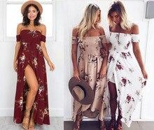 MAYFULL Women print dress, seaside beach dress fashion new