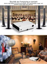 Mejores Ventas de Mini Proyector 3D/blueray 3d Proyector/Bluetooth WIFI Proyector Para Uso de Cine En Casa