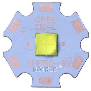 Image 2 - Newset كري XHP50.2 XHP50 2 الجيل LED الباردة الأبيض/محايد الأبيض LED باعث ديود 20 ملليمتر كوبر pcb + 22 ملليمتر 5 وضع/وضع 1 سائق