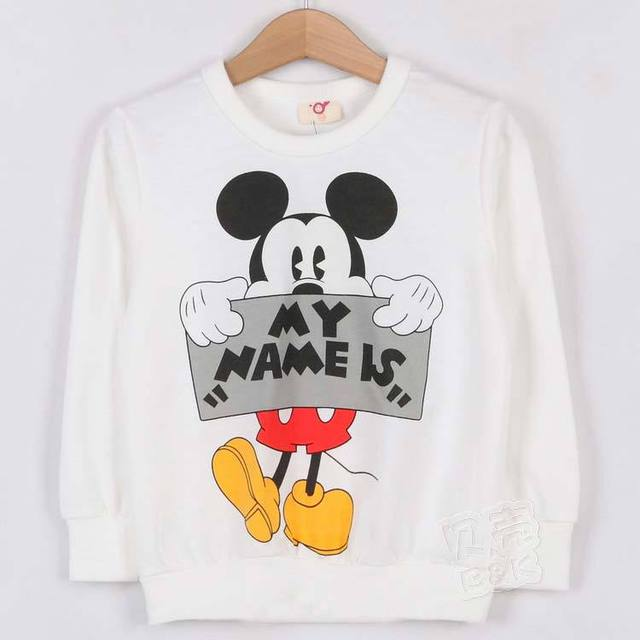 2013 New Arrival Fashion Mouse Cartoon Sweatshirts Children's T-shirts Clothing Long Sleeve Kids Clothes Garment wt0813