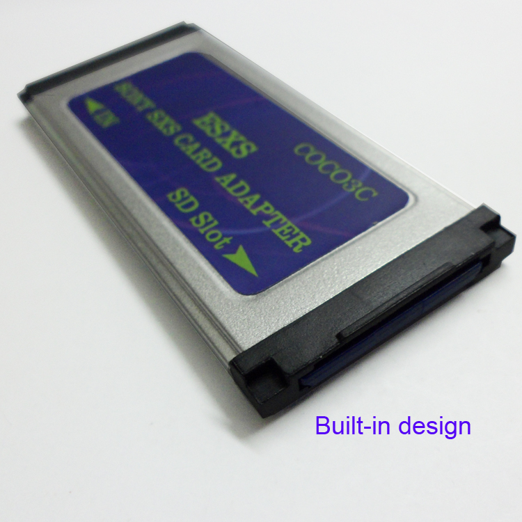 Free shiping SD to camcorder SXS Pro Card reader Expresscard adapter support 128GB SDHC SDXC card