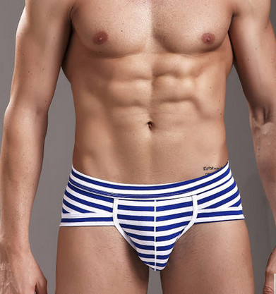 Modal 2016 men earmarks fashionable stripe  Boxes  men's Udnerwear sexy high elastic pants  comfortable breathable men's panties
