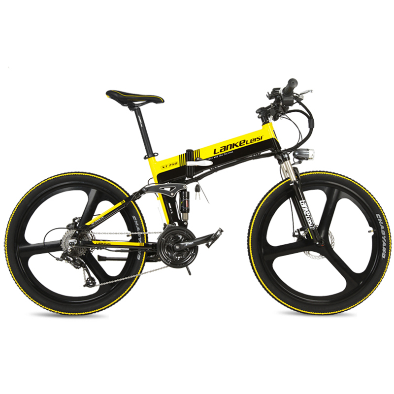 27-Speed, 26″, 48V/10A, 240W, Oil Disc Brake, 5-Section Pedal Assist Mode, Folding Electric Bike, Excellent Battery.