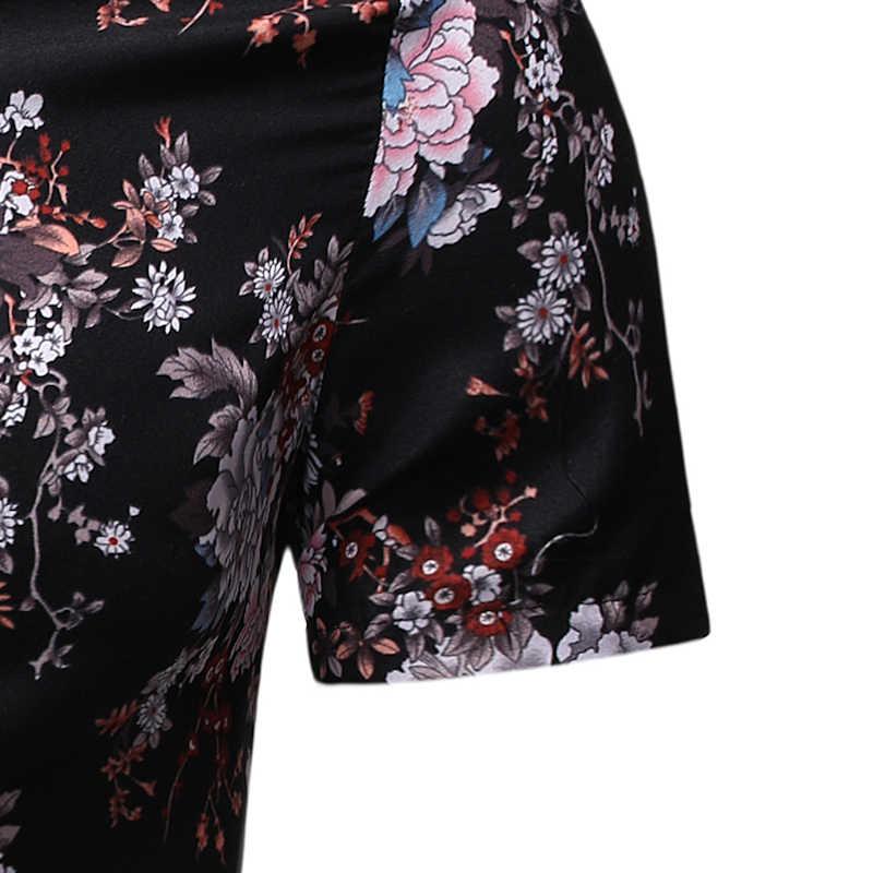 Мужская рубашка Летний Стиль Цветочный Пляж Мужская гавайская рубашка повседневная с коротким рукавом Праздничная гавайская рубашка Chemise Homme Азиатский Размер 3XL